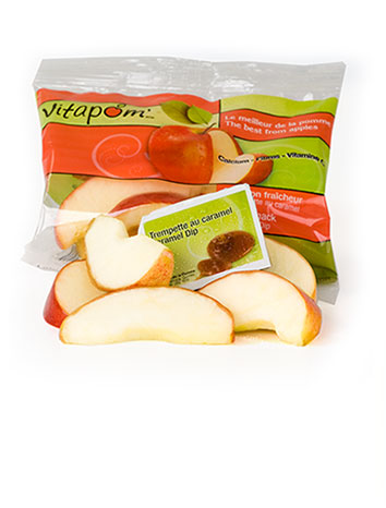 Apple slices with caramel dip - 20 x 100 g