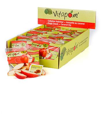 Sachet de tranches de pommes avec caramel - 48 x 100 g