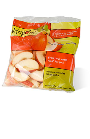 Red apple slices - 10 x 454 g