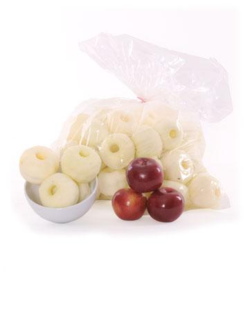 Pommes entières pelées - sans coeur