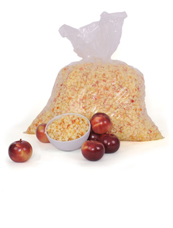 Red apple cubes - 9,1 kg