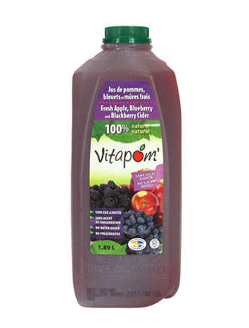 100% natural apple, blueberry and blackberry cider - 1,89 liters