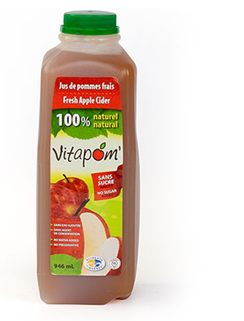 100% pure apple cider - 16 x 946 ml